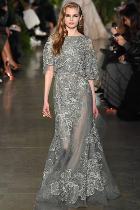 Elie Saab Blue Wedding Dress