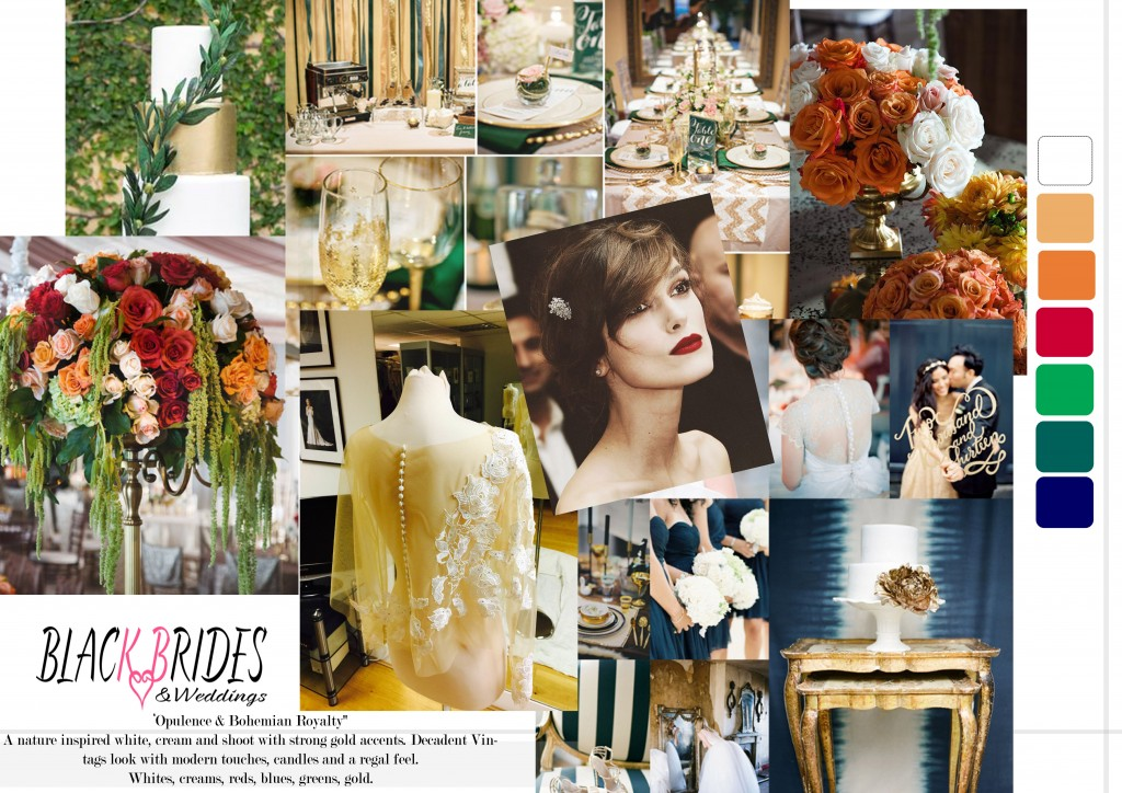 White Opulence & Bohemian Royalty black brides and weddings shoot march 2015