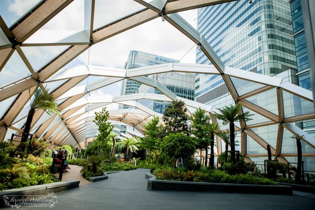 London Wedding Photographer - Wedding Proposal - BridgeWeddings - Canary Wharf Crossrail Place - Chioma and Isaac (2)