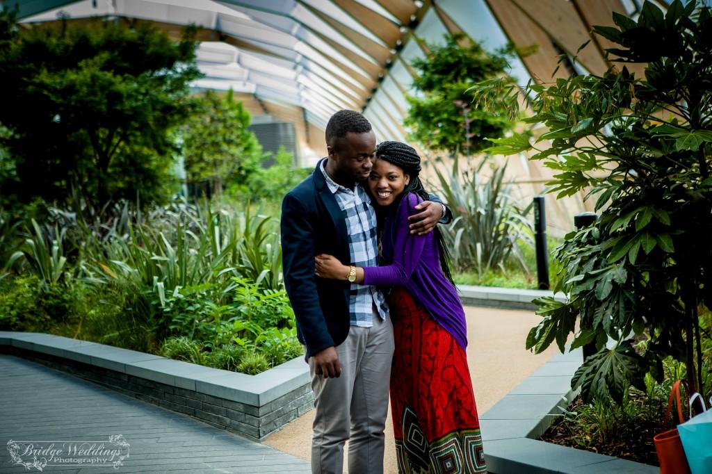 London Wedding Photographer - Wedding Proposal - BridgeWeddings - Canary Wharf Crossrail Place - Chioma and Isaac (36)